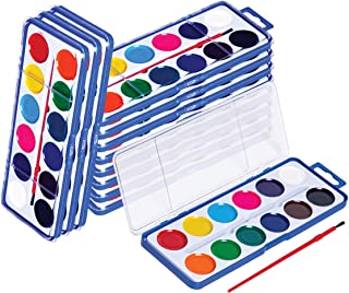 Neliblu Watercolor Paint Set for Kids - Bulk Set of 12 - Washable Paints in 12 Colors - Perfect for Home, School and Part...