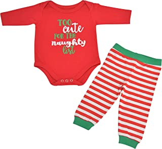 Unisex 1st Christmas Outfit Naughty List Onesie Layette