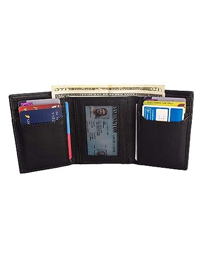 de0c28e83e69 LederPelle · RFID Leather Trifold Wallets for Men - Handmade Slim Mens  Wallet ...