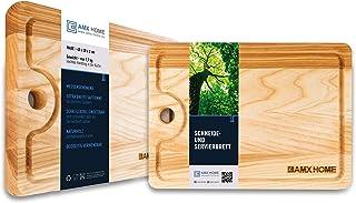 AMX Home Premium Tabla de cortar de madera ideal para picar y cortar, para servir cuchillos y surcos duraderos, madera, 25cm x 35cm