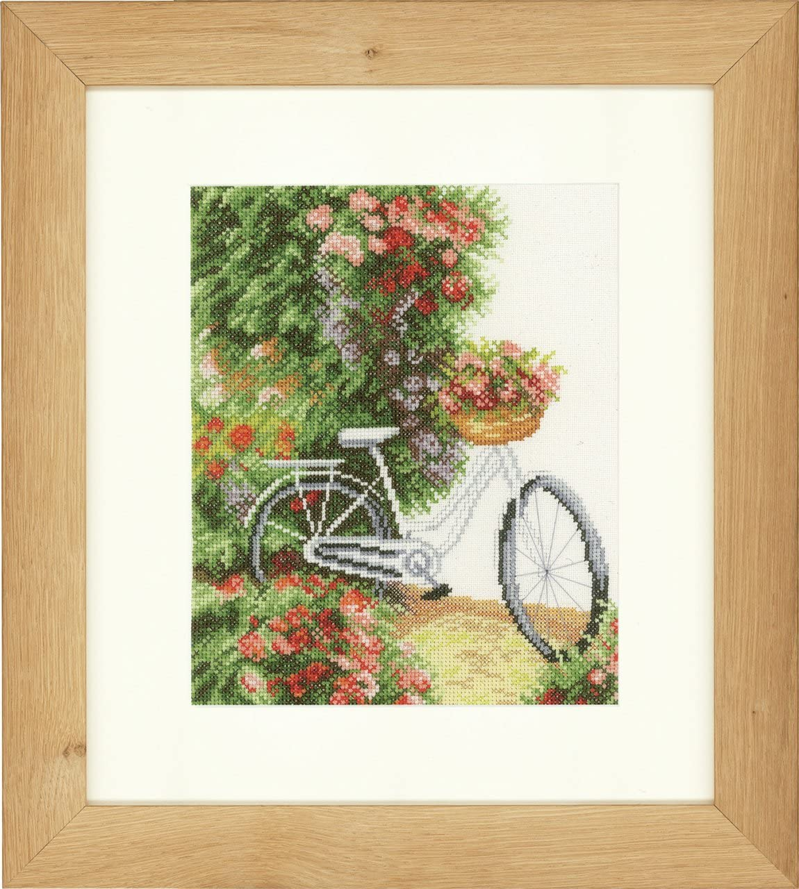 Lanarte Ranking TOP13 55% OFF Counted Cross Stitch My Kit: Aida Bicycle