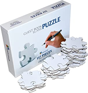 Blank Puzzle A1, 23x33 inches, 117 Large Numbered White Pieces, Piece Size 3x3 inches, Guest Book Alternative, Wedding Birthday Party Event Guest Book Puzzle