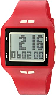 ساعة فيستال الرقمية للجنسين HLMDP25 هيلم بشاشة عرض كوارتز احمر