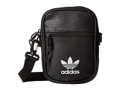 adidas Originals Originals PU Festival Bag Crossbody (Black/Silver) Bags
