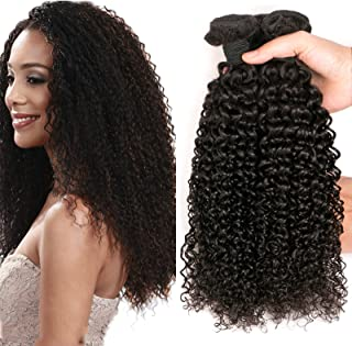 DAIMER Brazilian Hair Kinky Curly Weave 3 Bundles 10a Curly Hair Products Full Head 100 Human Hair Extension Total 300g 14 16 18 Inches
