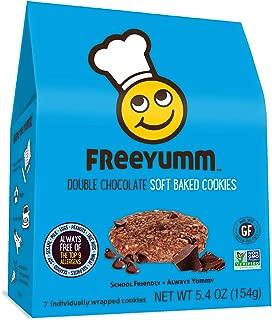 FreeYumm Allergen Free Cookies, Gluten Free, Vegan, Dairy Free, Nut Free Snacks for Kids, Total of 21 Cookies (Double Chocolate Chip)