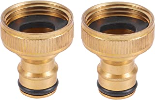 """Adhere To Fly 2 Pcs 3/4"""" Female Thread Brass Quick Connector, Irrigation Hose Watering Accessories Garden Hose Quick Conne..."""