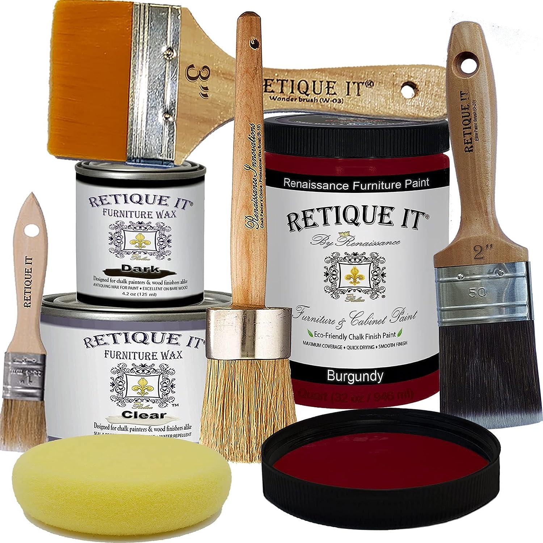Retique Ranking TOP20 It Excellence RFP-DSKit-Burgundy-2 by Renaissance Furniture Paint