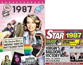 1987 BIRTHDAY GIFT SET - 1987 DVD Film , 1987 Chart Hits CD and 1987 Birthday Card