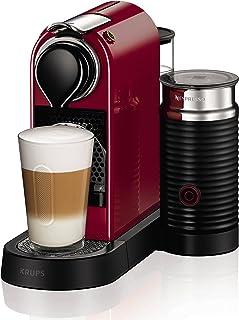Nespresso Krups Citiz XN7605 - Cafetera monodosis de cápsulas Nespresso con aeroccino, compacta, 19