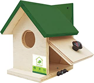 PetNest Bird house for Sparrow and tit Nestbox home shape 6x6.5x7.5 Inch