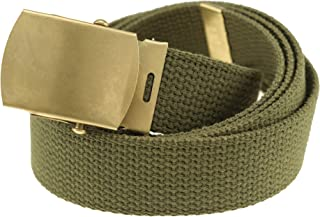 Thomas Bates Canvas Web Belt Cargo Cotton Military Buckle Made in USA