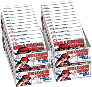 Big League Chew Female Softball Bulk Case of Shredded Bubble Gum 12 Packs Per Tray (4 Trays Total = 48 Packs)