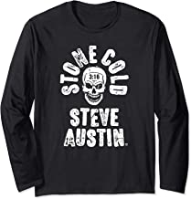 WWE Stone Cold Steve Austin Skull Rough Type Long Sleeve Tee