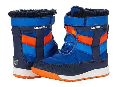 Merrell Kids Alpine Puffer Jr Waterproof (Toddler) (Blue/Orange) Boy