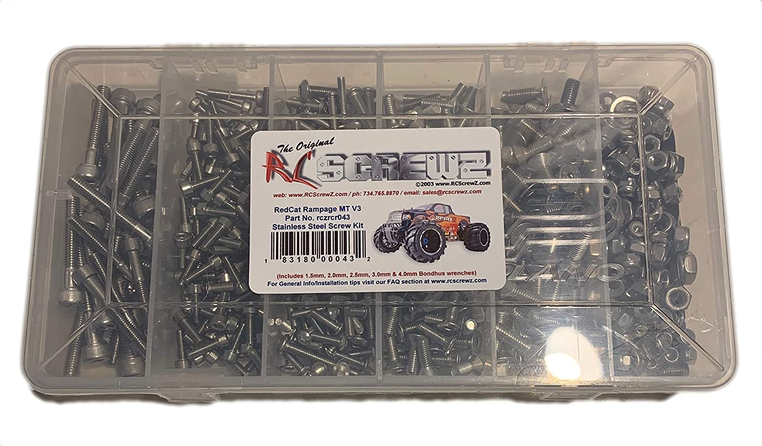 RCScrewZ RedCat Racing Rampage MT V3 Stainless Steel Screw Kit  1 5th scale  rcr043