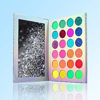 24 Colors Eyeshadow Palette, Color Board Makeup Palette Set Highly Pigmented Glitter Matte Shimmer Natural Ultra Eye Shado...