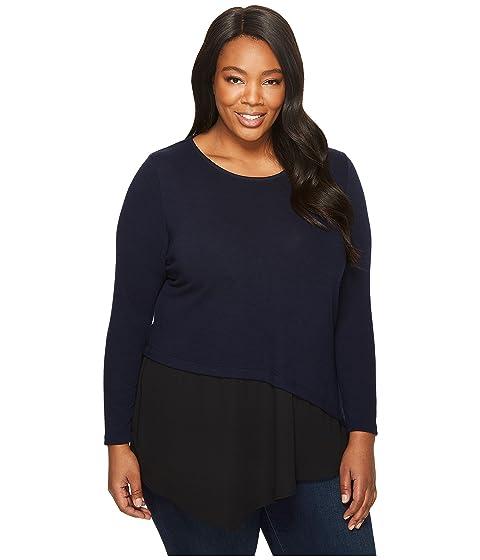 f4029ca0e0ac9 Karen Kane Plus Plus Size Combo Hem Sweater at 6pm