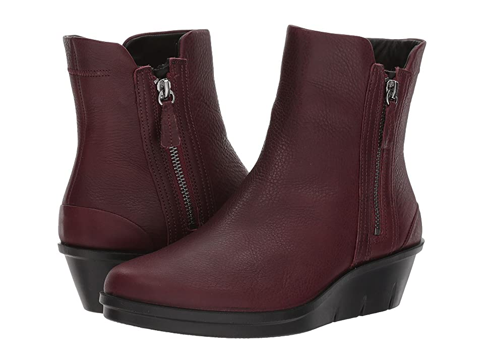 ECCO Skyler Wedge Boot (Bordeaux Cow Leather) Women