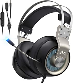 Mpow PS4 Headset Xbox One - EG3 Pro Gaming Headset Stereo Surround Sound with Noise Cancellation Mic & In-Line Control, Ov...