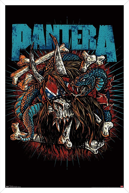 Trends International Pantera - Rocker Poster Skull Luxury goods Wall 22.375