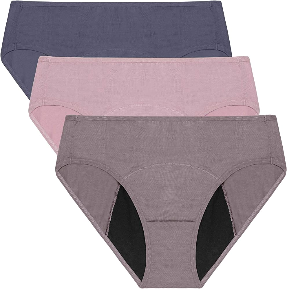Neione, 3 paia di mutandine, slip assorbenti per donne con le mestruazioni MP668_3GRAPN_3XL1