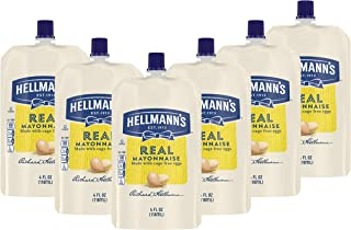 Hellmann's Convenient Squeeze Pouches Gluten Free Mayo Real Mayonnaise Made With 100% Cage-Free Eggs, Perfect Packets of M...