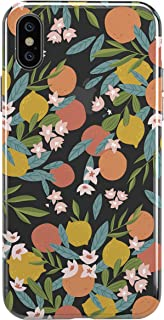 iPhone Xs Case,TRFAEE Lovely Citrus Oranges Tangerines Fruits Lemon Clear Soft Anti Scratch Shock Absorption Protective TPU Cases Cover for iPhone Xs
