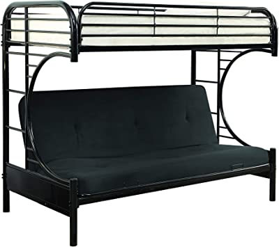 HOMES: Inside + Out Gammon Twin over Futon Bunk Bed Black