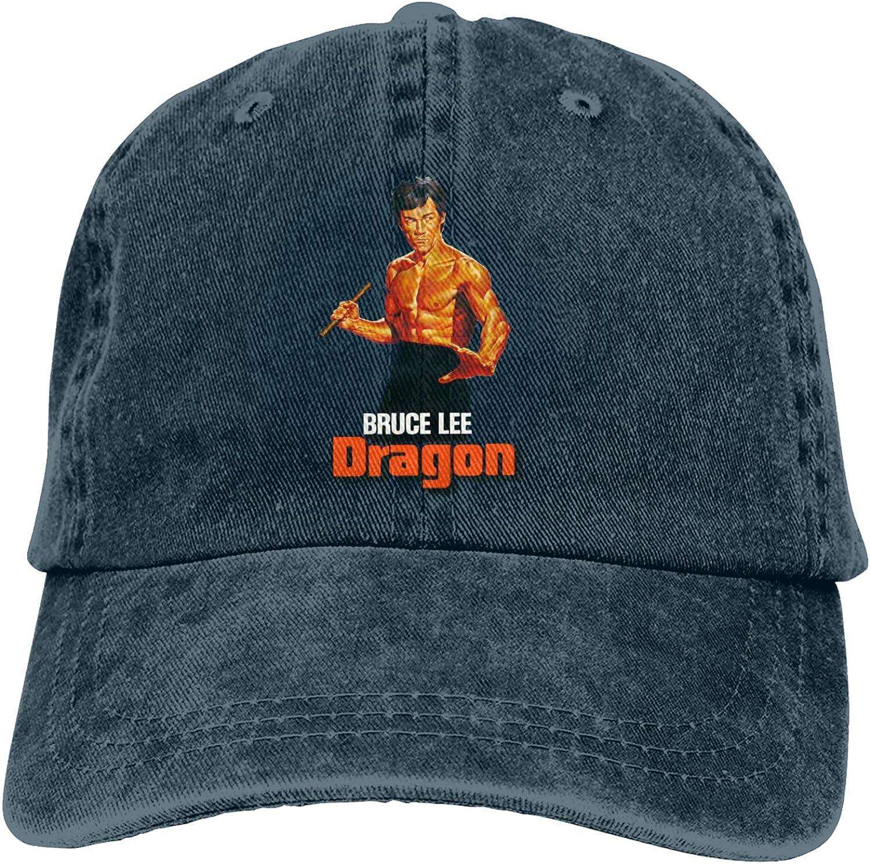 Br-Uce Lee En-TER The Dra-Gon Movie Cowboy Hat Cotton Adjustable Washable Retro Baseball Cap