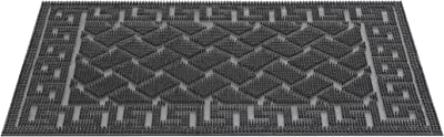 HMT - 339107 - Black Rubber Doormat 60 x 40 x 1.0 cm