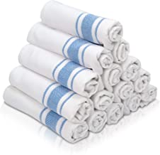 KUULE- Kitchen Towels, 100% NARURAL Cotton,- (15 Pack) Tea Towel Great for Any Kitchen DISHCOLOTHS & Household Cleaning, I...