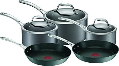 TEFAL Gourmet Anodised Cookware Set, Black, A860S544 5 Pieces
