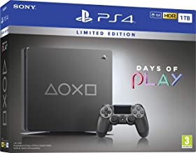Sony PlayStation 4 1TB Console (Grey) - Days of Play Limited Edition - UAE Version