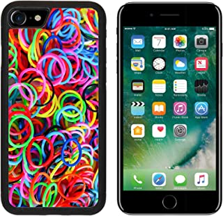 MSD Premium Apple iPhone 7 Aluminum Backplate Bumper Snap Case iPhone7 IMAGE ID 30002986 colorful background rainbow colors rubber bands loom