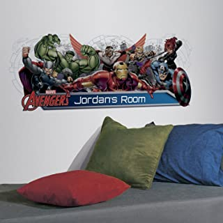 RoomMates Avengers Assemble Personalization Headboard Peel And Stick Wall Decals