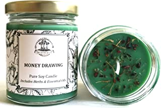 Art of the Root Money Drawing 8 oz Soy Spell Candle for Wealth, Financial Security, Prosperity & Abundance (Wiccan, Pagan, Hoodoo, Magick)