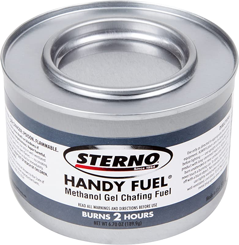 Sterno 6PK Products 20102 2 Hour Handy Methanol Gel Chafing Fuel 6 7oz 6 Pack BLUE