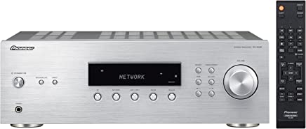 Pioneer SX 10AE Stereo Receiver with Built-In Bluetooth/FM/RDS Radio/100W Per Channel–Silver