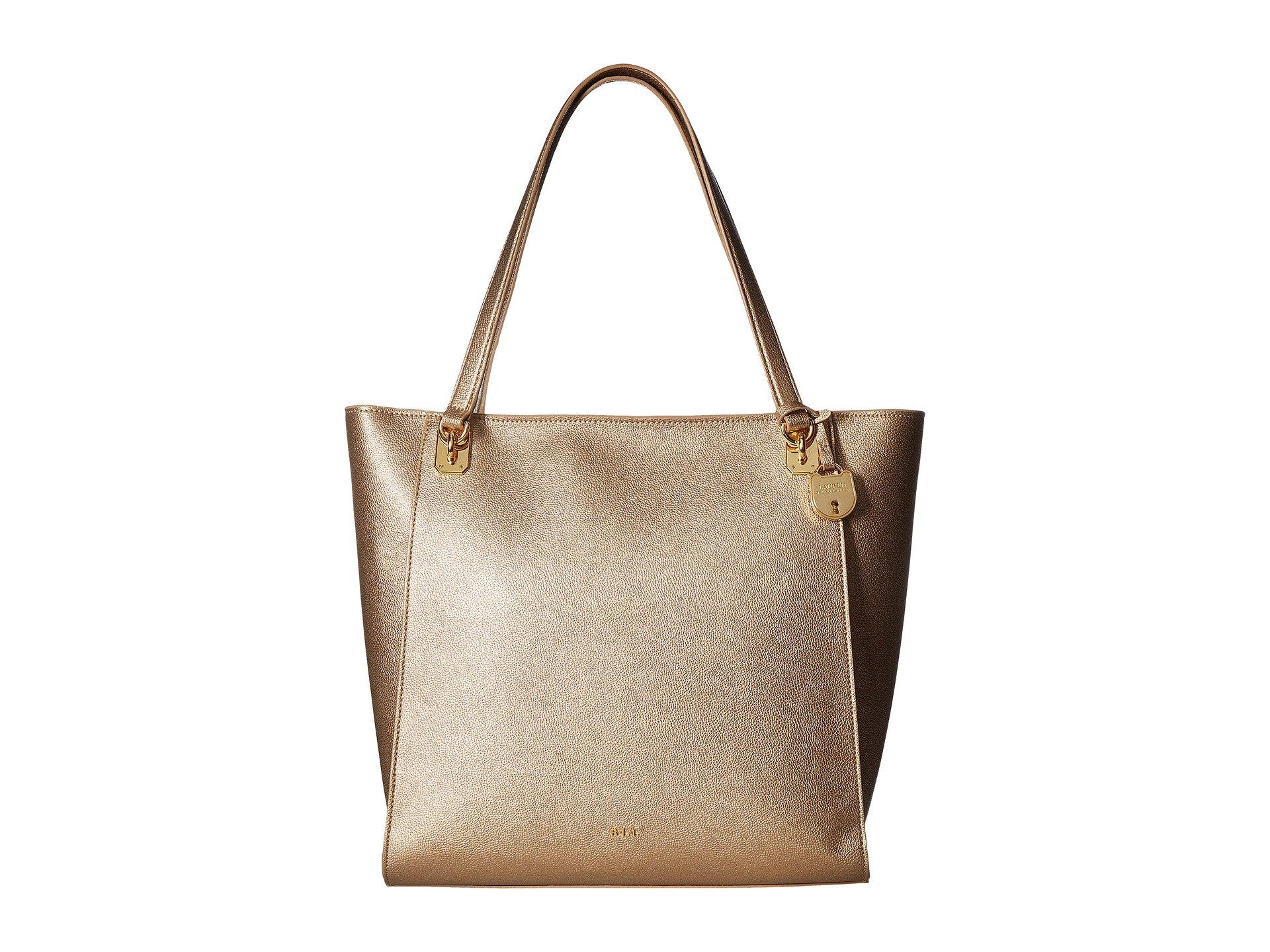 1a6e430bd8 ... shop lauren ralph lauren emden elizabeth tote in gold leaf 4c309 5abcf
