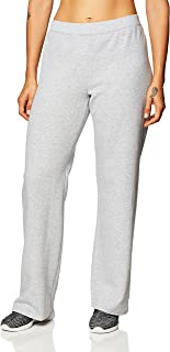 Hanes womens Ecosmart Petite Open Bottom Leg Sweatpants