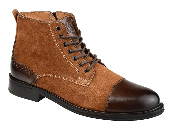 Steampunk Boots and Shoes for Men Thomas  Vine Remo Cap Toe Ankle Boot $59.99 AT vintagedancer.com