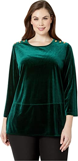 Plus Size Velvet Tunic Top