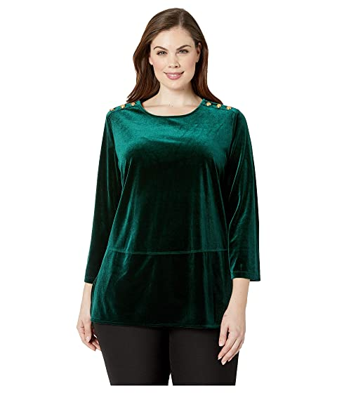 a78fc029701 LAUREN Ralph Lauren Plus Size Velvet Tunic Top at 6pm
