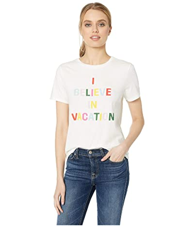 ban.do I Believe in Vacation Classic Tee (Ivory) Women