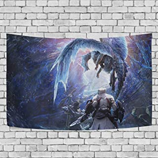 FASHIONDIY Monster Hunter World Iceborne Dragon Tapestry Wall Hanging Decoration for Apartment Home Art Wall Tapestry for Bedroom Living Room Dorm Fashion 60 x 40 inches