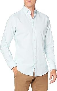 Hackett London Washed Ox Ticking Str Camisa para Hombre