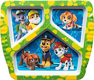 Zak Designs PWPB-0010-C Kids Divided Plates, Paw Patrol Rocky, Rubble & Skye