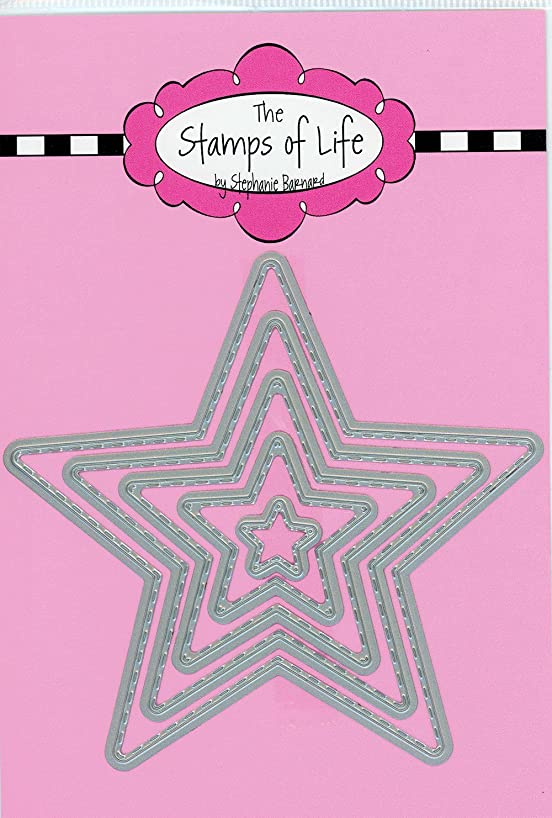 4th of July Metal Die Cuts for Scrapbooking and Card-Making by The Stamps of Life - Stitched Star Die