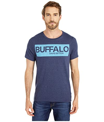 Buffalo David Bitton Nandore Short Sleeve Buffalo Logo Tee (Heather Whale) Men